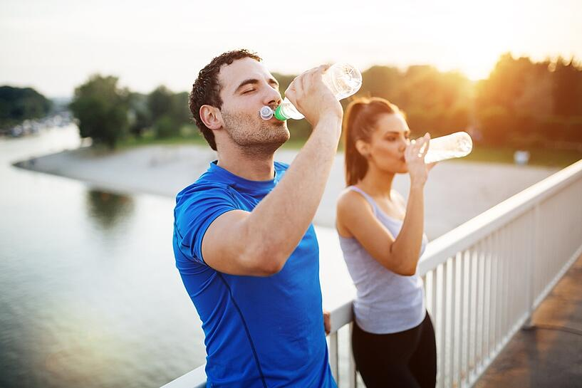 hydrate before during and after workout