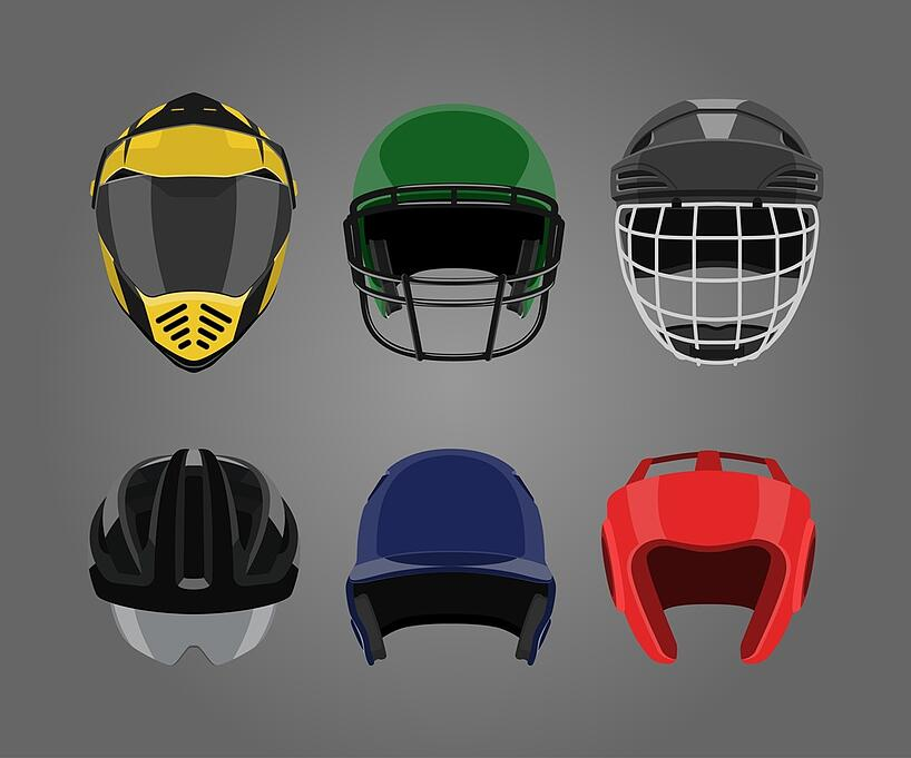 wear a sport helmet