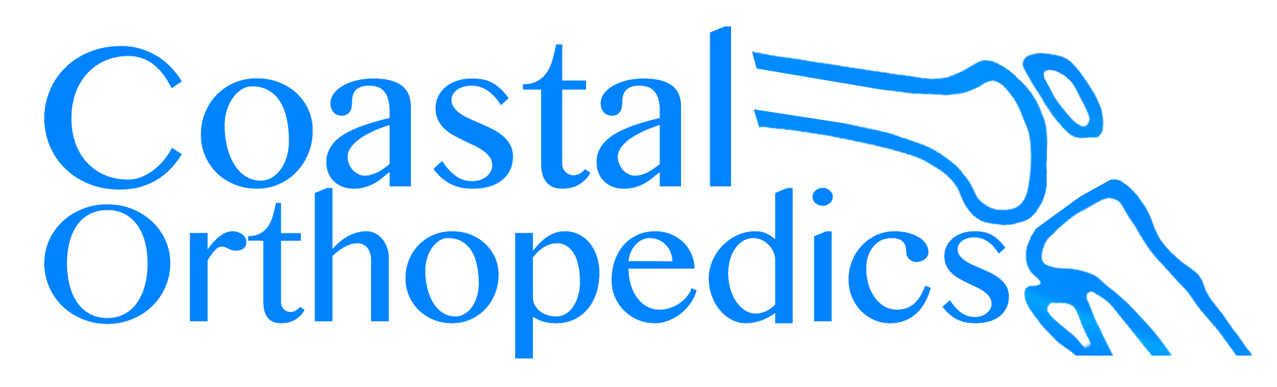 coastalortho mono tone blue logo