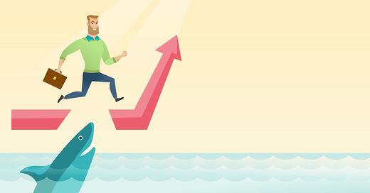storyblocks-risky-businessman-running-on-growth-graph-and-jumping-over-gap-businessman-jumping-over-ocean-with-shark-concept-of-business-growth-and-risks-vector-flat-design-illustration-horizontal-layout_S_KFZGf22b_L